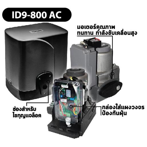 ID9-800AC-ประตูรั้วรีโมทบานเลื่อน